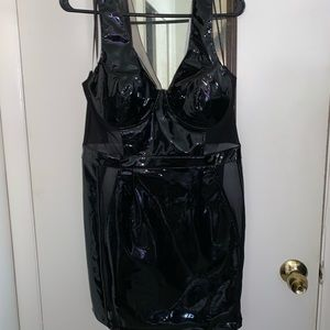 Brand new with tags Fashion Nova latex dress XL